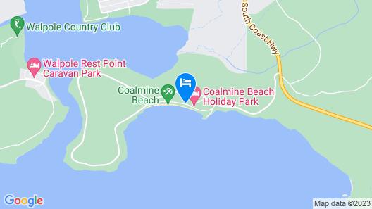 Coalmine Beach Holiday Park Map