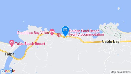 Golden Sand Beachfront Accommodation Map