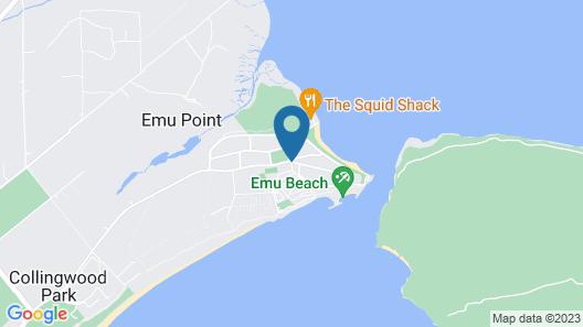 Acclaim Rose Gardens Beachside Holiday Park Map