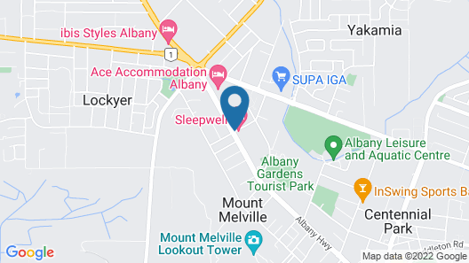 Albany Apartments Map
