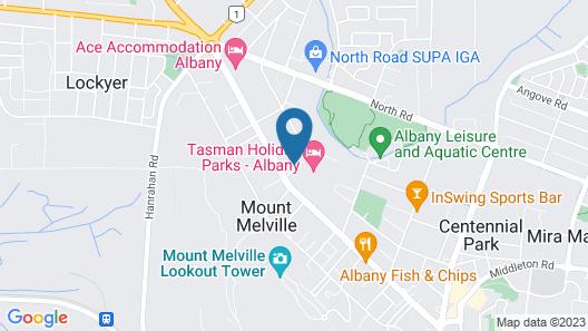 Albany Gardens Tourist Park Map