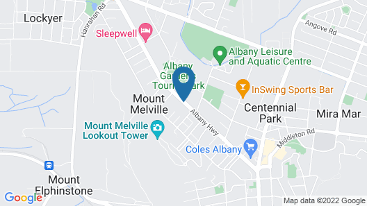 Best Western The Clarence on Melville Map