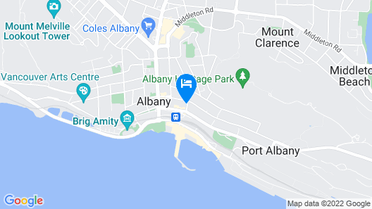 Best Western Albany Motel & Apartments Map