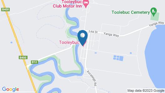 Tooleybuc Motel Map