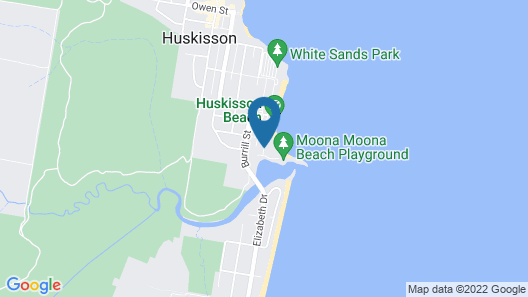 Huskisson Beach Bed and Breakfast Map