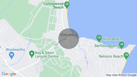 Blenheim Beach House - 3 mins from the door and the sands are between your toes  Map