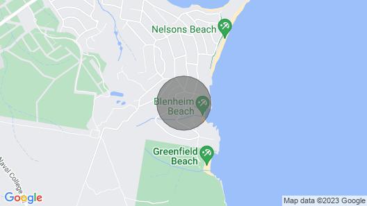 711 - Blenheim Bliss - THE Beach ON Your Doorstep Map