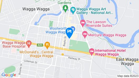 Club Motel Map