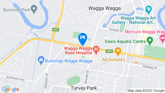 Best Western Ambassador Motor Inn & Apartments Map
