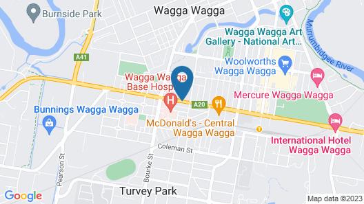 Comfort Inn Heritage Wagga Map