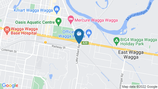 International Hotel Wagga Wagga Map