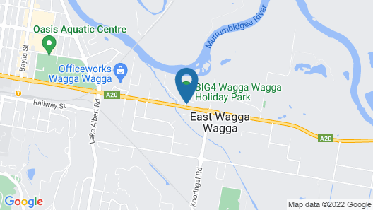 BIG4 Wagga Wagga Holiday Park Map