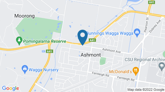 Junction Motel Wagga Map