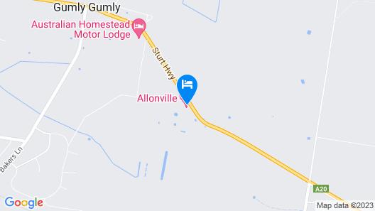 Allonville Motel Map