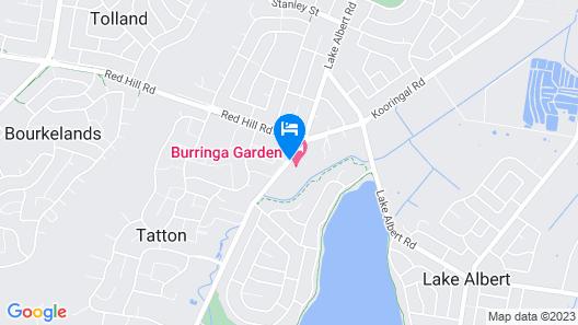 Burringa Motel Map
