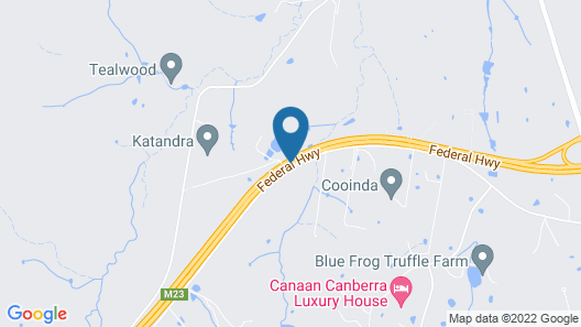 Eaglehawk Holiday Park Canberra Map