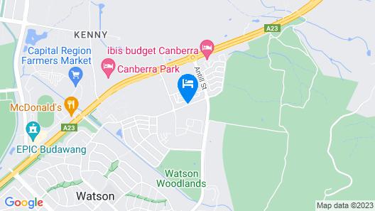 Canberra Carotel Motel Map