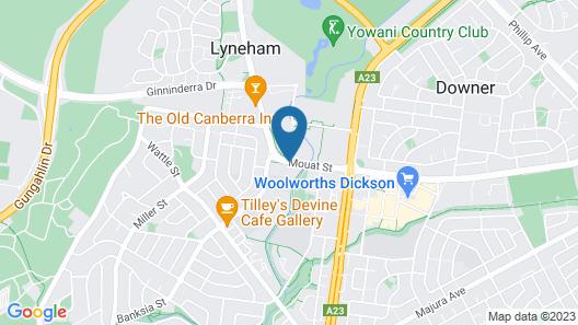 Canberra Lyneham Motor Inn Map