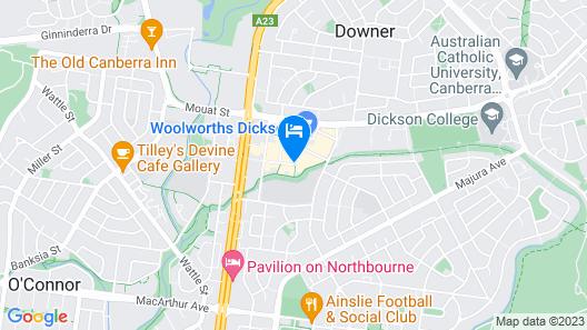 Quality Hotel Dickson Map