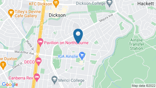 ibis Styles Canberra Tall Trees Map