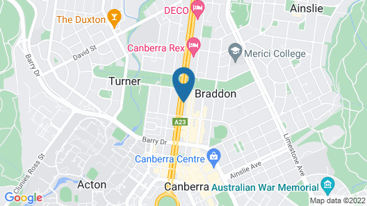 Pacific Suites Canberra Map