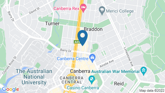 Accommodate Canberra - Braddon 33 Map