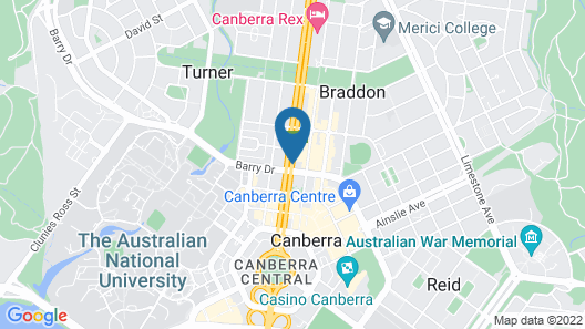 Adina Serviced Apartments Canberra James Court Map