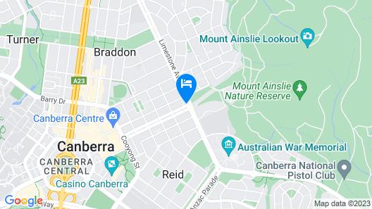 Mercure Canberra Map