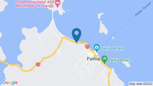 Paihia Beach Resort & Spa Hotel Map