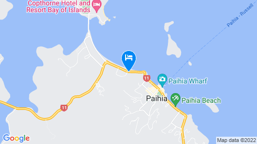 Paihia Beach Resort & Spa Hotel Map