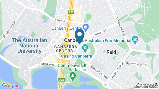 Quest Canberra City Walk Map