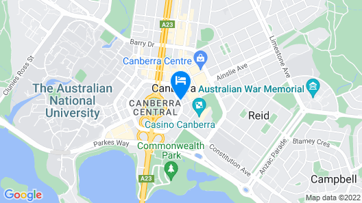 The Sebel Canberra Civic Map