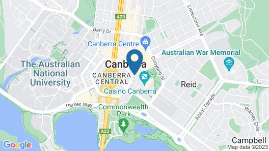 Canberra City YHA - Hostel Map