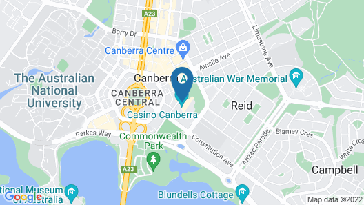Crowne Plaza Canberra Map