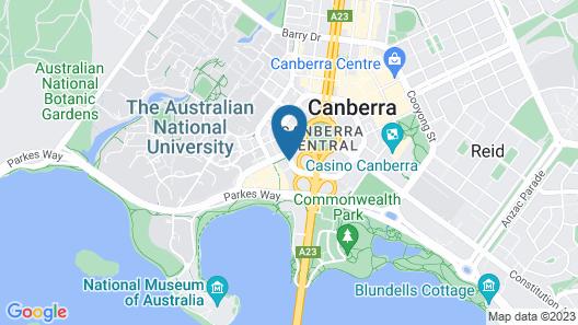 QT Canberra Map