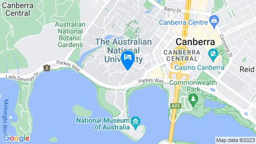 ANU - University House Hotel Map