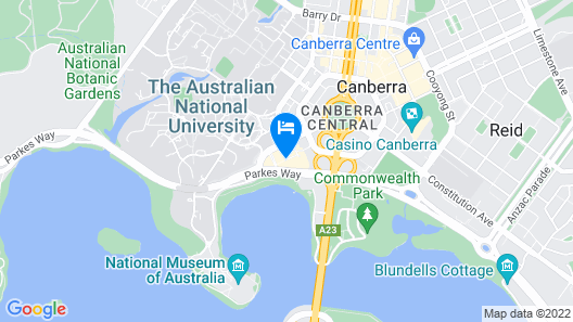 Peppers Gallery Hotel Map