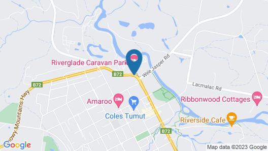 Riverglade Caravan Park Map