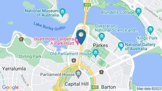 Hyatt Hotel Canberra - a Park Hyatt Map