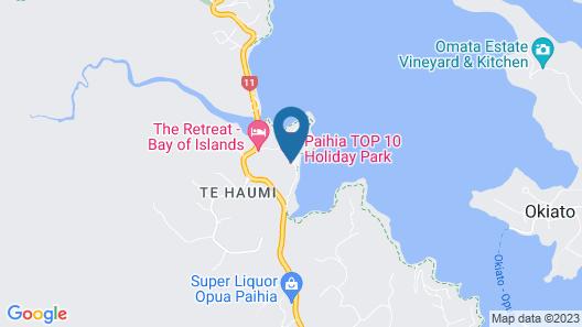 Paihia TOP 10 Holiday Park Map