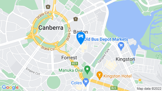Little National Hotel Canberra Map