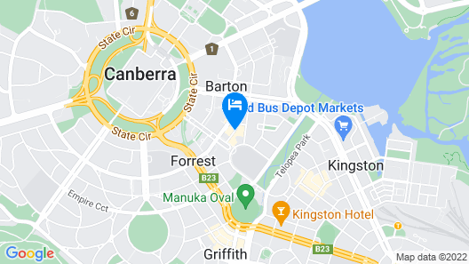 Burbury Hotel & Apartments Map
