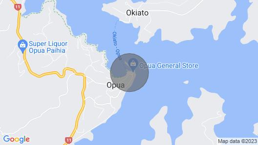The Loft Overwater, Opua, Bay of Islands Map
