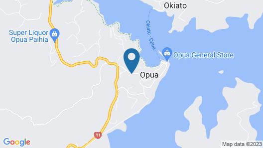Opua Boutique Seaview Motel Map