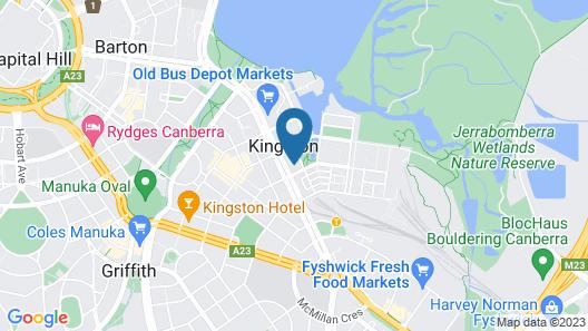 Accommodate Canberra - Dawes Map