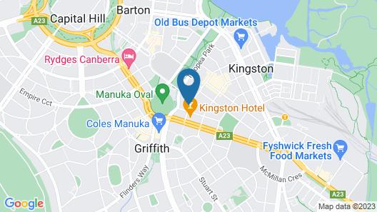 Adina Serviced Apartments Canberra Kingston Map