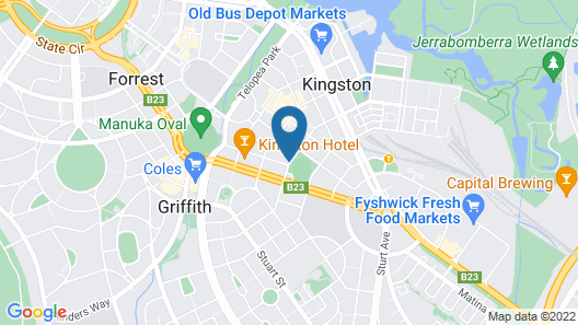 Oxley Court Serviced Apartments Map