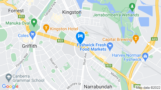 Ramada by Wyndham Diplomat Canberra Map