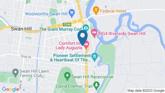Australian Settlers Motor Inn Map