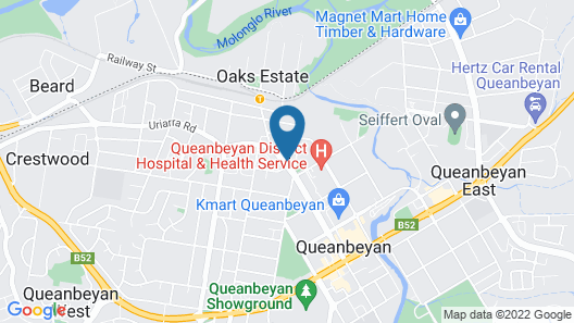 Queanbeyan Motel Map